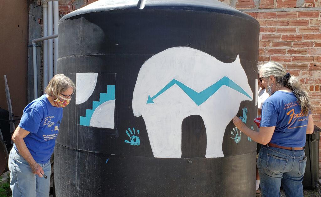 Water Tank Mural in Progress
