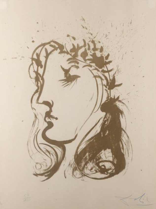 Beatrice by Salvador Dali