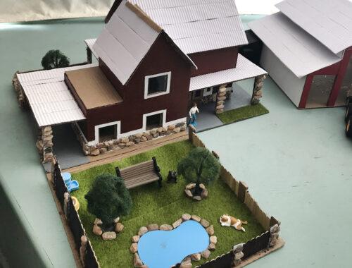 Kazyen Green's model home and barn