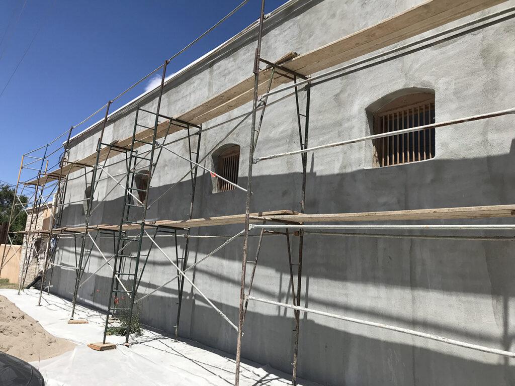 Stucco Repair at MMAC