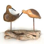 Herschel Veitch-Pair of Preening Curlews