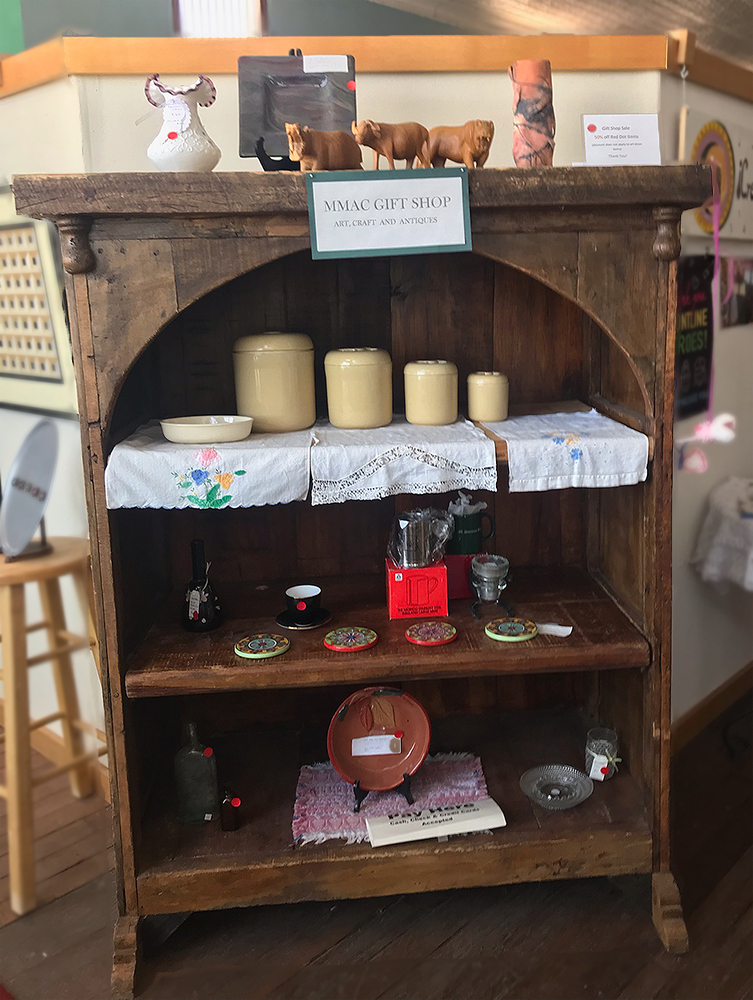 Gift shop_display case with candles_and_ various knick-knacks